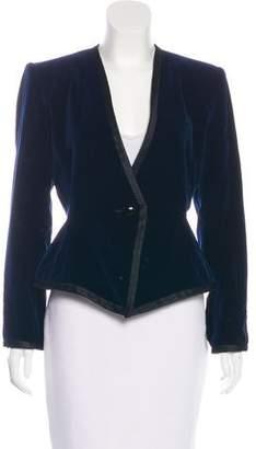Saint Laurent Velvet Structured Blazer