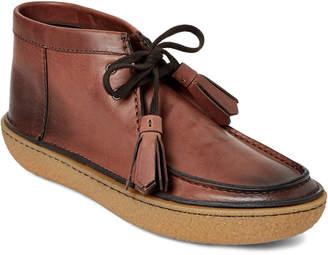 Prada Brown Leather Chukka Boots