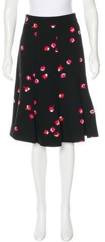 Kate Spade New York Floral Print Midi Skirt