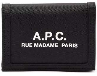A.P.C. Logo Print Billfold Wallet - Mens - Black