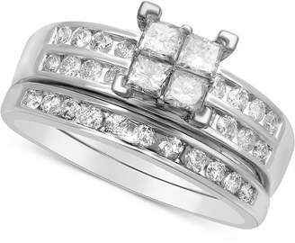 Macy's Diamond Quad Bridal Set (1 ct. t.w.) in 14k White Gold