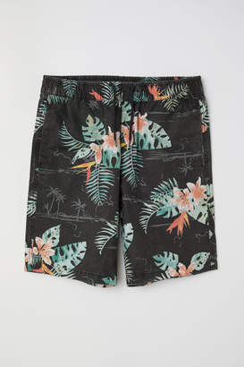 H&M Knee-length Cotton Shorts - Black