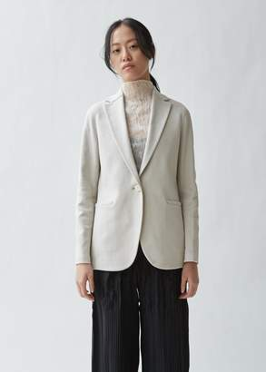 Harris Wharf London Welt Pocket Boyfriend Blazer Canvas