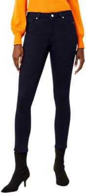 Warehouse Skinny Cut Crop Jeans, Navy