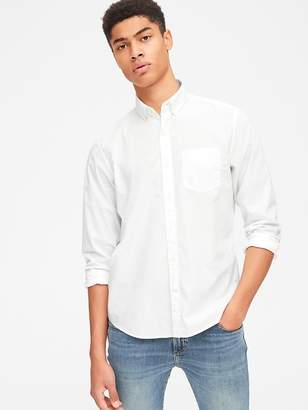 Gap Untucked Poplin Shirt with Stretch