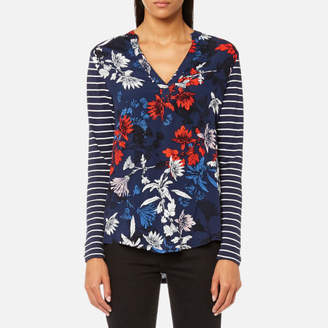 Joules Women's Beatrice Jersey/Woven Mix Top