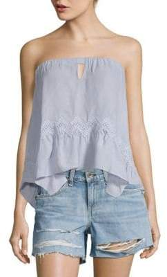 Ramy Brook Crochet-Trimmed Strapless Top