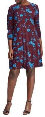 Lauren Ralph Lauren Plus Fit-&-Flare Jersey Dress