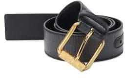 Moschino Textured Leather Belt