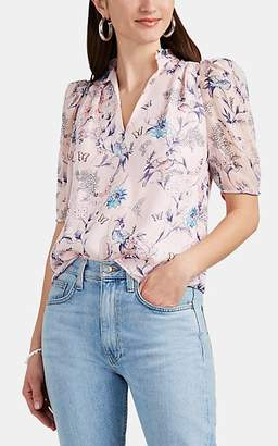 Laura Garcia Collection Women's Alline Floral Silk Blouse - Pink