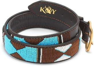 Koy Clothing - Hand-Beaded Maasai Mwezi Belt Wide