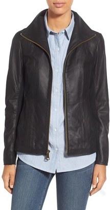 Women's Marc New York Lambskin Leather Jacket $400 thestylecure.com