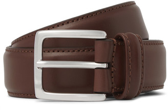 Andersons Anderson's - 3cm Brown Leather Belt - Men - Brown