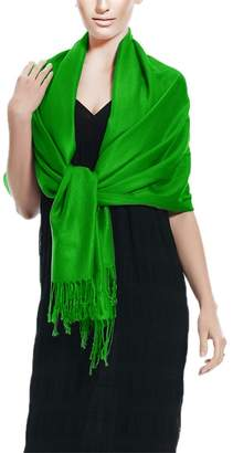 Couture Peach Solid Soft & Silky Eco-Friendly Pashmina Shawl Wrap Stole