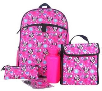 Disney Minnie Mouse DISNEY GIRLS' MINNIE MOUSE 5 PIECE SET BACKPACK