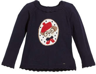 Mayoral Doggie Intarsia Sweater, Size 12-36 Months