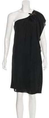 Gucci One-Shoulder Knee-Length Dress