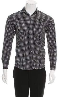 Dries Van Noten Geometric Print Button-Up Shirt