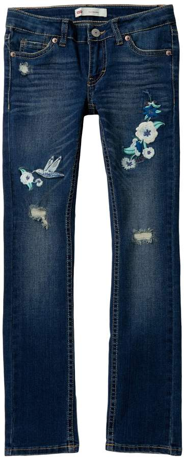 Levi's 711 Embroidery Jeans (Big Girls)