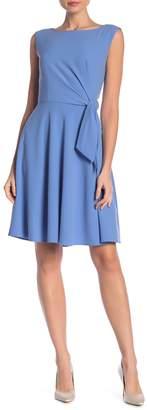 Tahari Side Tie Crepe Dress