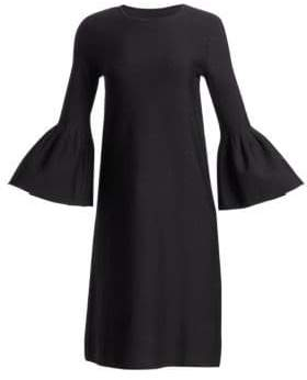Carolina Herrera Balloon Sleeve Knit Dress