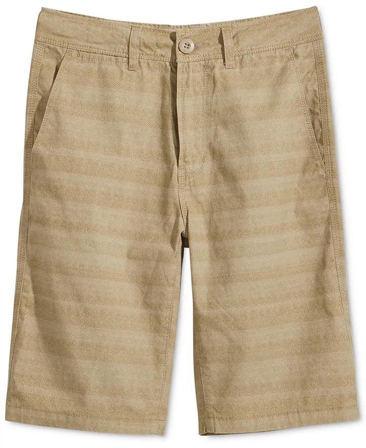 Univibe Weston Striped Cotton Shorts, Big Boys