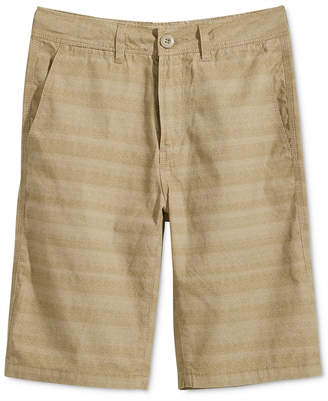 Univibe Weston Striped Cotton Shorts, Big Boys