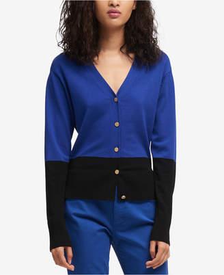 DKNY Colorblocked V-Neck Cardigan, Created for Macy's