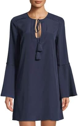 LIKELY Adair Bell-Sleeve Short Dress, Navy