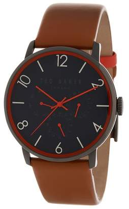 Ted Baker Men's Leather Strap Watch, 12mm