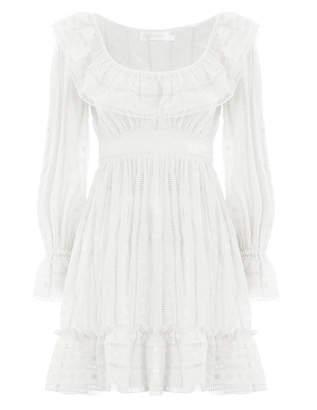 Zimmermann Melody Ladder Short Dress