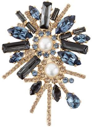 Erdem Crystal Bloom brooch