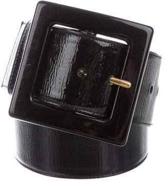 Saint Laurent Patent Leather Buckle Waist Belt