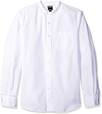 Todd Snyder Men's Band Collar Shirt with Pocket
