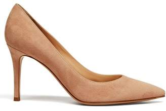 Gianvito Rossi Gianvito 85 Point Toe Suede Pumps - Womens - Nude