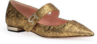 Rochas Golden brocade pointed flats