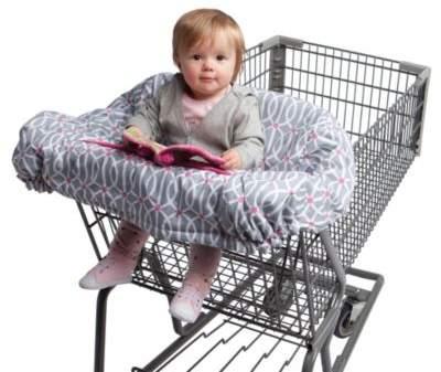 Boppy Shopping Cart Cover in Park Gate Grey