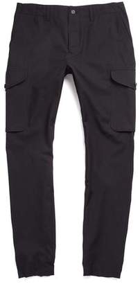 Todd Snyder Slim Wool/Cotton Cargo Pant in Black