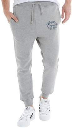 Jack and Jones Mens New Sweat Pants Comfort Fit Light Grey Marl