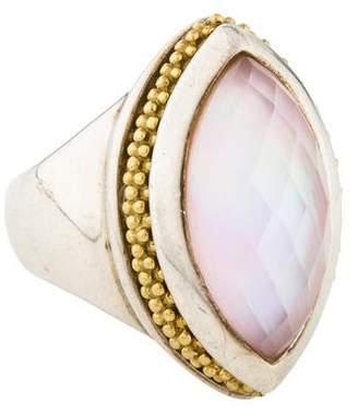Lagos Quartz & Mother of Pearl Doublet Caviar Ring