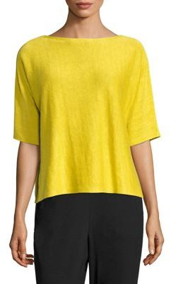Eileen Fisher Organic Linen Boxy Top $148 thestylecure.com