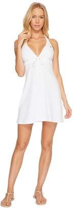Polo Ralph Lauren Iconic Terry Grommet Halter Dress Cover-Up Women's Swimwear