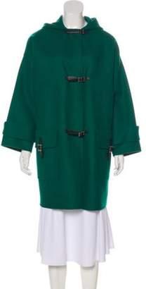 Valentino Virgin Wool & Angora-Blend Coat Green Virgin Wool & Angora-Blend Coat