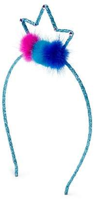 GiGi Girls' Glitter & Fur Pom-Pom Crown Headband - 100% Exclusive