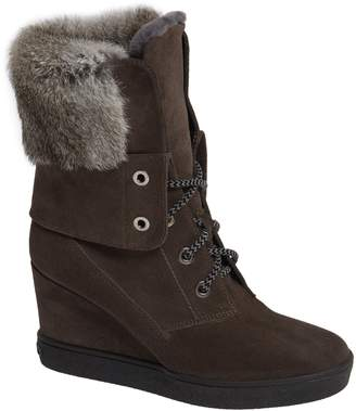 Aquatalia Cordelia Genuine Rabbit Fur Weather Resistant Boot