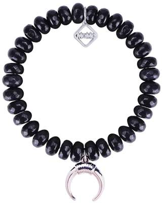 Meme London MeMe London Lucky Horn Lava Black With White Gold