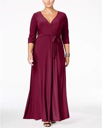 Love Squared Plus Size Faux-Wrap Maxi Dress