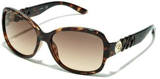 G by Guess GUESS Factory Round Chain-Temple Sunglasses