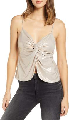 Leith Knot Front Metallic Camisole