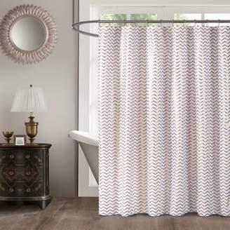 Mainstays Modern Gold Metallic Shower Curtain, 1 Each